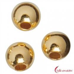 Kaschierkugel 4 mm Silber vergoldet VE 52 Stück