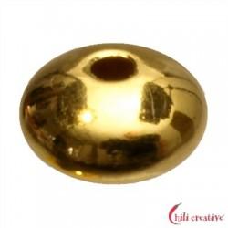 Linse 6 mm Silber vergoldet VE 12 Stück