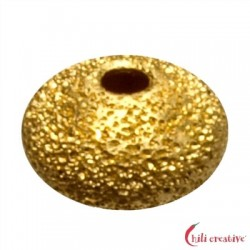 Linse 6 mm Silber vergoldet diamantiert VE 12 Stück