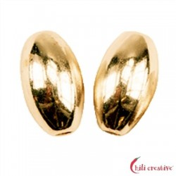 Olive 4 mm Silber vergoldet VE 26 Stück