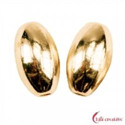 Olive 6 mm Silber vergoldet VE 7 Stück
