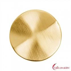 Platte rund gewellt 25 mm Silber vergoldet matt 1 Stück