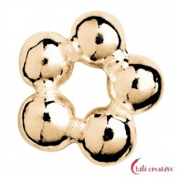 Kugelring 4 mm Silber vergoldet VE 48 Stück