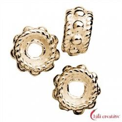 Rondell verziert 5 mm Silber vergoldet VE 19 Stück