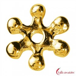 Kugel-Stern 7 mm Silber vergoldet VE 24 Stück