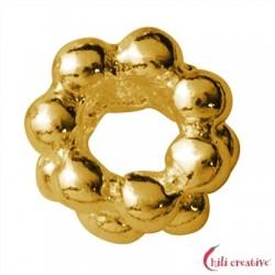 Kugelring doppelt 3,5 mm Silber vergoldet VE 50 Stück