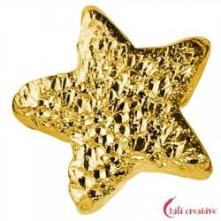 Funkel-Sternchen 5 mm Silber vergoldet diamantiert VE 25 Stück