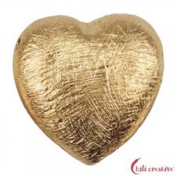 Herz 14 mm Silber vergoldet matt VE 3 Stück