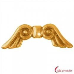 Flügel Märchen 18 mm Silber vergoldet VE 4 Stück