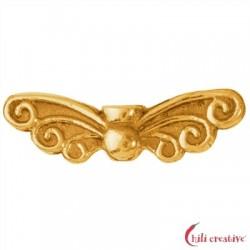 Flügel Elfe 22 mm Silber vergoldet VE 4 Stück