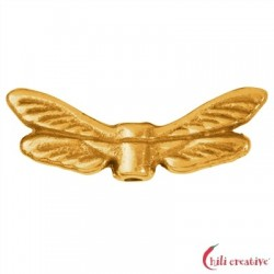 Flügel Libelle 22 mm Silber vergoldet VE 4 Stück