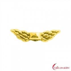 Flügel Engel 11 mm (mini) Silber vergoldet VE 10 Stück