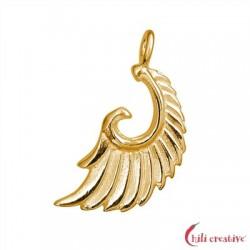 Flügel Aariel 21 mm Silber vergoldet VE 2 Stück