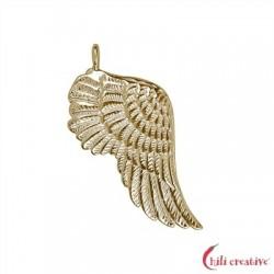 Flügel Gabriel 32 mm Silber vergoldet VE 2 Stück