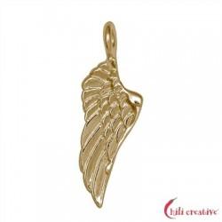 Flügel Kabriell 20 mm Silber vergoldet VE 4 Stück
