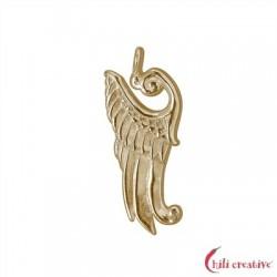 Flügel Kyriell 27 mm Silber vergoldet VE 2 Stück