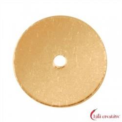 Scheibe 8 mm Silber vergoldet VE 25 Stück