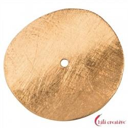 Scheibe gebogen 15 mm Silber vergoldet matt VE 5 Stück
