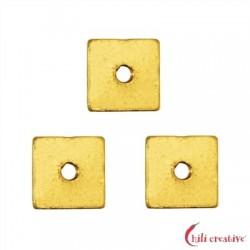 Scheibe quadratisch 5x5 mm Silber vergoldet VE 20 Stück