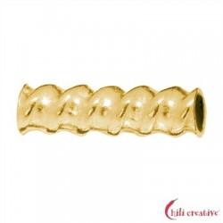Röhrchen gedreht 8x3 mm Silber vergoldet VE 30 Stück