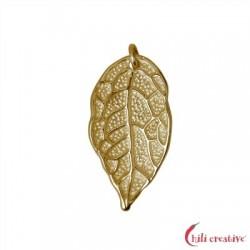 Rosenblatt mit vier Ösen 26 mm Silber vergoldet VE 2 Stück