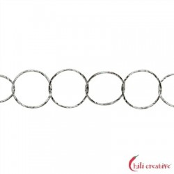 Meterkette Glanzschnitt runde Glieder 7 mm Silber rhodiniert VE 1 m