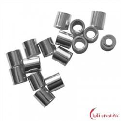 Crimp-Röhrchen 2 mm Silber rhodiniert VE 200 Stück