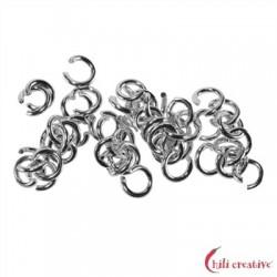 Biegering 4 mm Silber rhodiniert VE 62 Stück
