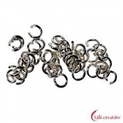 Biegering 6 mm Silber rhodiniert VE 36 Stück