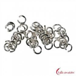 Biegering 8 mm Silber rhodiniert VE 19 Stück