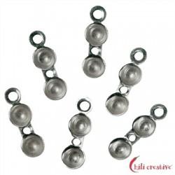 Klappkapseln mit Fadenloch 4 mm Silber rhodiniert VE 20 Stück