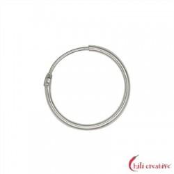 Creole 18 mm Silber rhodiniert VE 4 Stück