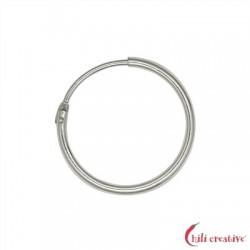 Creole 23 mm Silber rhodiniert VE 2 Stück