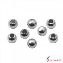 Quetschkugeln Silber rhodiniert 2,2 mm VE 185 Stück