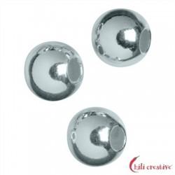 Kaschierkugel 4 mm Silber rhodiniert VE 52 Stück