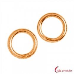 Bindering 6 mm Silber rosevergoldet VE 37 Stück