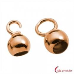 Endkapseln kleine Öse 3,5 mm Silber rosevergoldet VE 10 Stück