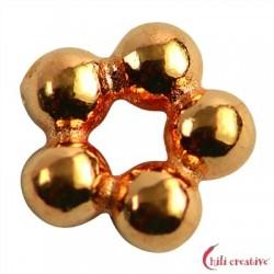 Kugelring 5 mm Silber rosévergoldet VE 27 Stück