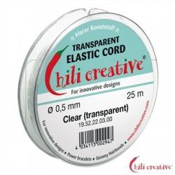 Elastikfaden transparent 0,5 mm / 25m