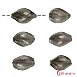 Spindel Glas silber 18 mm VE 6 Stück