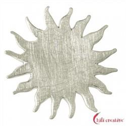 Sonne Silber matt 25 mm