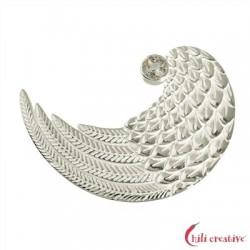 Flügel mit Topas Silber 20 mm