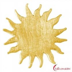 Sonne Silber vergoldet matt 25 mm