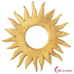 Sonne Silber vergoldet matt 45 mm