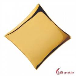 Raute Silber vergoldet 25 mm