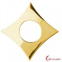 Raute Silber vergoldet 45 mm