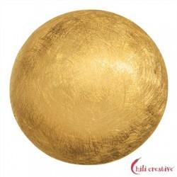 Halbkugel Silber vergoldet matt 18 mm