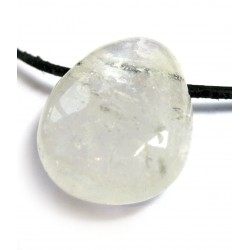 Trommelstein gebohrt Bergkristall A