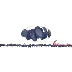 Strang Splitter Tansanit (erhitzt) 2-4 x 5-10 mm extra lang 88 cm