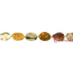 Strang Freiform-Scheiben Ozean-Achat (Chalcedon) 18-25 x 10-15 mm